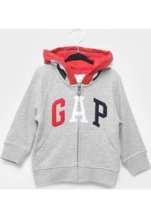 Jaqueta Moletom Infantil Gap Com Capuz Masculina - Masculino