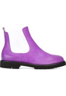 Chalayan Bota Chelsea De Couro - Pink & Purple