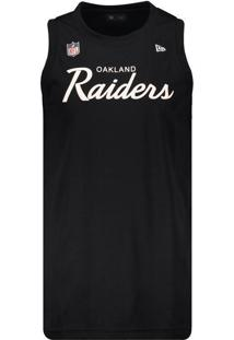 Regata New Era Nfl Oakland Raiders Preta