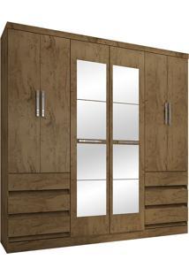 Guarda-Roupa Casal Com Espelho 6 Portas E 6 Gavetas 4177-Araplac - Demolição