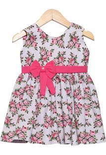 Vestido Veráo Letícia Enxovais Cristal Pink - Tricae