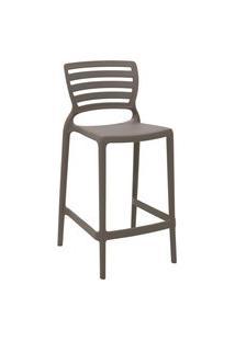 Cadeira Alta Tramontina 92127109 Sofia Com Encosto Vazado Camurça