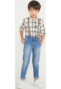 Calça Menino Em Jeans