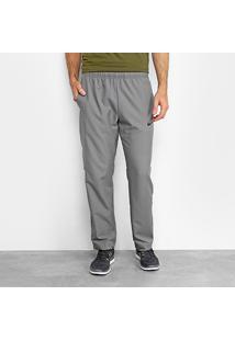 Calça Nike Dry Team Woven Masculina - Masculino-Cinza+Preto