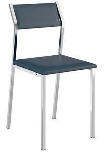 Cadeira Carraro 1709 Aço Cromada (2 Unidades) Cromada/Azul