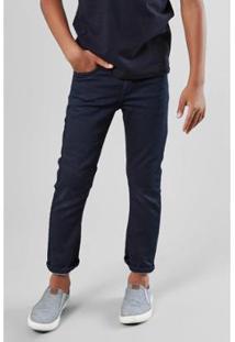 Calça Mini Jeans Eetique-Se Ronaldo Reserva Infantil Masculino - Masculino-Azul