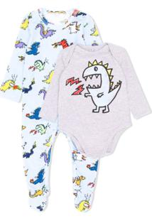 Stella Mccartney Kids Body Com Estampa De Dinossauro - Azul