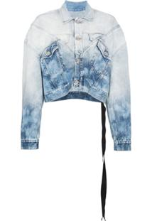 Unravel Project Jaqueta Jeans 'Ombre Bleach' - Azul