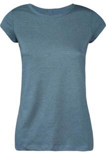 Camiseta Feminina Manga Curta Azul Marinho