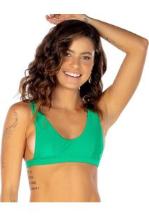 Soutien Top Com Recortes - Verde - Fleeuse Flee