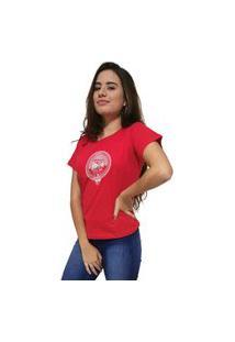 Camiseta Feminina Cellos Boom Box Premium Vermelho
