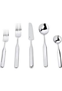 Alessi Collo Alto 24 Piece Cutlery Set - Prateado