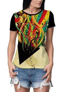 Camiseta Stompy Feminina - Feminino-Preto