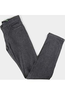 Calça Jeans Infantil Hd Básica Estonada Masculina - Masculino-Preto