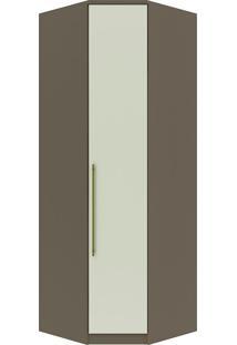 Guarda-Roupa De Canto Obliquo Com 1 Porta Diamante Ii M302-Henn - Damasco / Areia