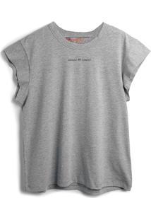 Camiseta Colcci Fun Menina Lisa Cinza