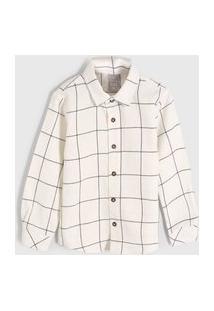 Camisa Hering Kids Infantil Off-White/Preto