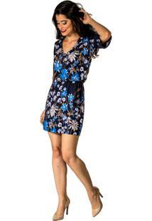 bde3d2b45 Occhi Azzurri. Vestido Estampado Cassia Handbook