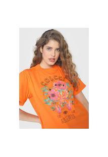 Camiseta Colcci Cosmic Laranja