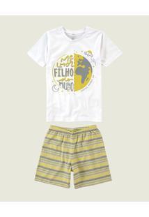 Pijama Melhor Filho Sustentável Malwee Liberta Branco - 2