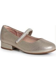 Sapato Boneca Infantil Metalizado Dourado Dourado