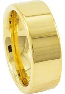 Aliança De Tungstênio New Tungsten Reta Dourada