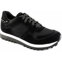 e905e003a3878 Tênis Sneaker Sapato Show Camurça 16240 Feminino - Feminino-Preto
