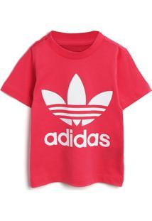 Camiseta Adidas Originals Menina Frontal Rosa