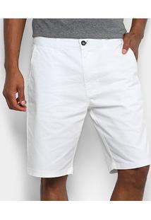 Bermuda Sarja Acostamento Masculina - Masculino-Branco