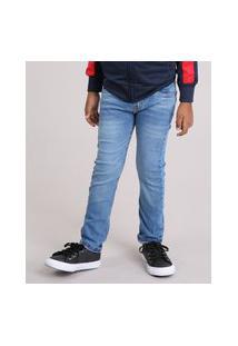 Calça Infantil Jeans Slim Azul Médio