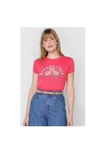 Camiseta Aeropostale Roses Rosa