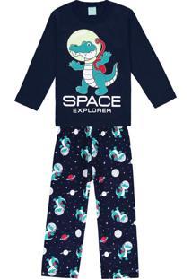 Pijama Infantil Masculino Marinho