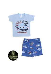 Pijama Malwee Liberta Brilha No Escuro Azul
