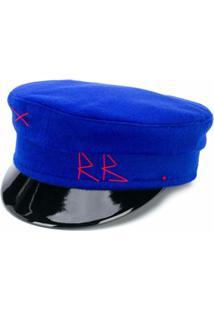 Ruslan Baginskiy Chapéu Com Logo Bordado - Azul