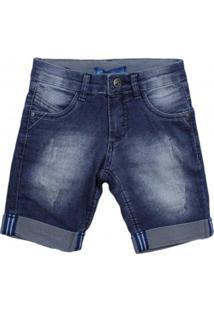 Bermuda Jeans Infantil Oznes Menino