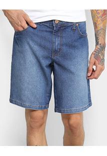 Bermuda Jeans Colcci Davi Estonada Masculina - Masculino-Jeans