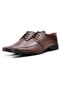 Sapato Social Elegant Com Cadarço Dubuy 804La Marrom