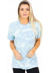 Camiseta Energia Natural Tie Dye Feminina - Unissex-Azul