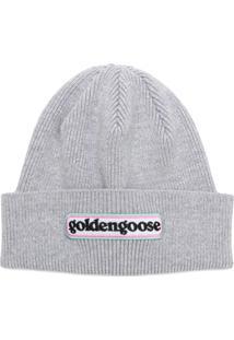 Golden Goose Deluxe Brand Gorro Com Logo - Cinza