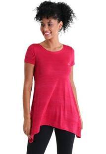 Camiseta Líquido Evasê Levíssima Feminina - Feminino-Rosa