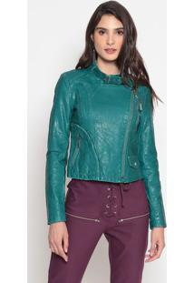 Jaqueta Com Bolsos- Verde Escuro- Cotton Colors Extrcotton Colors Extra