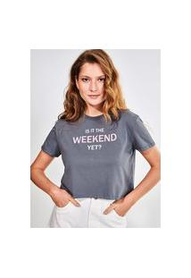 Camiseta Cinza Estonada Weekend