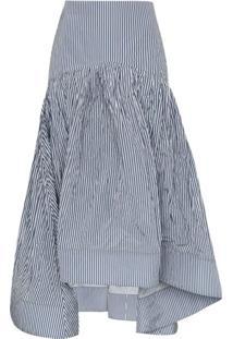 Rosie Assoulin Pinstripe Fishtail Skirt - Azul