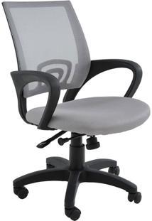 Cadeira De Escritório Base Rodízio Santiago-Rivatti - Cinza