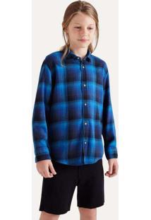 Camisa Mini Pf Ft Flanela Gradiente Cinza