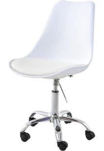 Cadeira Saarinen Assento Em Polipropileno Cor Branco Com Base Cromada - 45063 - Sun House
