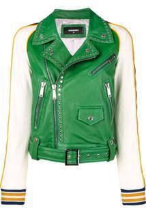 Dsquared2 Jaqueta Contrastante Com Tachas - Verde