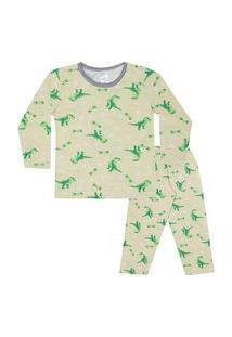 Conjunto Pijama Menino Em Meia Malha Rotativa Marfim - Liga Nessa