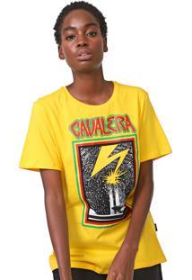 Camiseta Cavalera Estampada Amarela