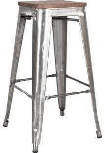 Banqueta Iron Tolix Industrial Metalizada Rústica 76 Cm